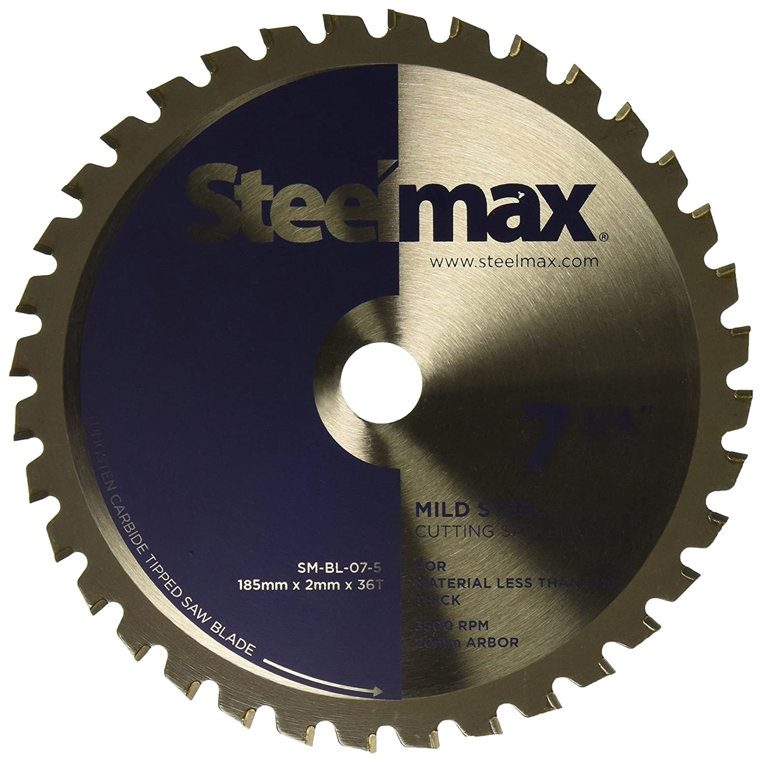Steelmax 7 1//4 TCT Blade for Thin Steel