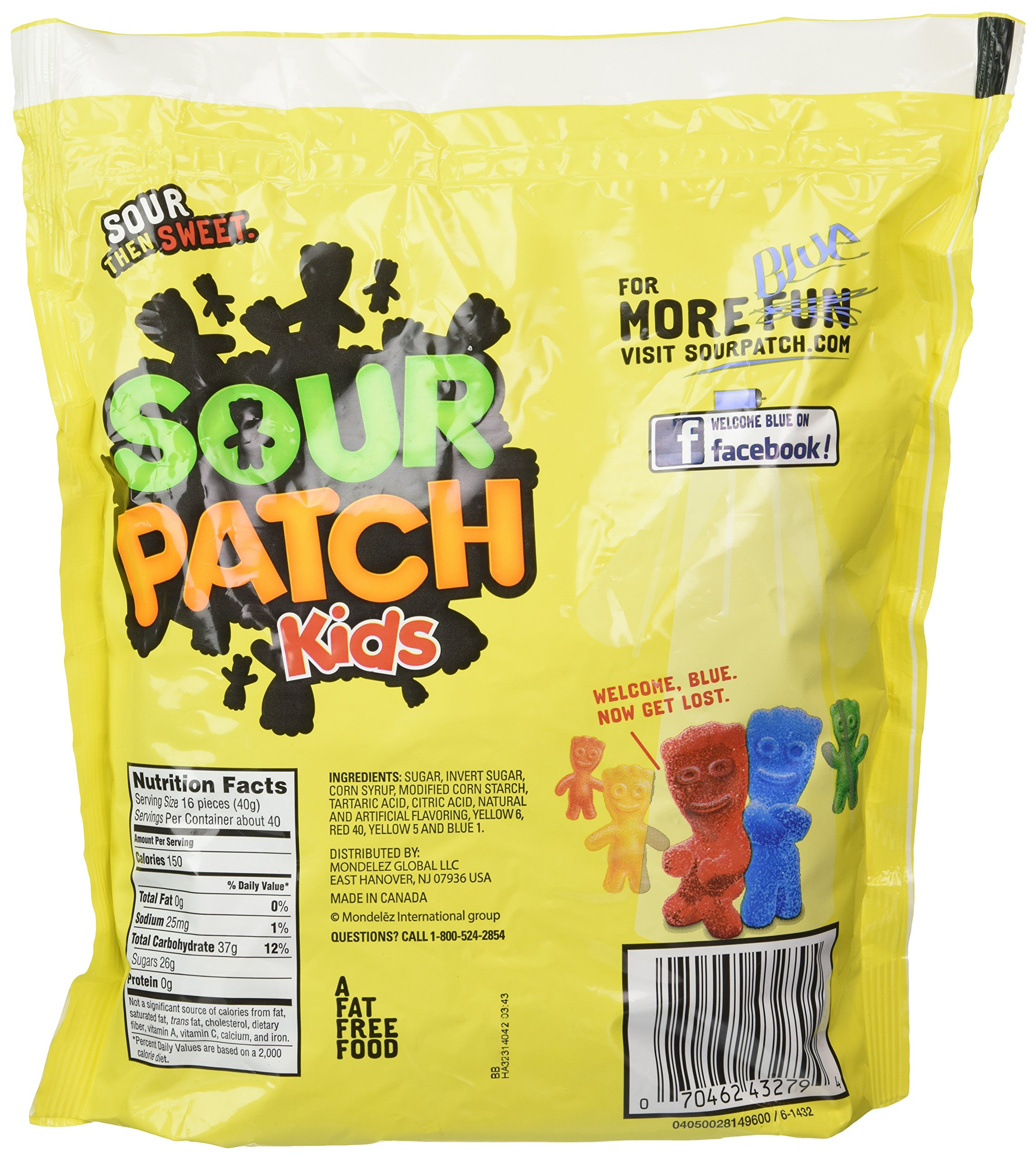 Sour Patch Kids Sweet and Sour Gummy Candy (Original, 3.5 Pound Bag)