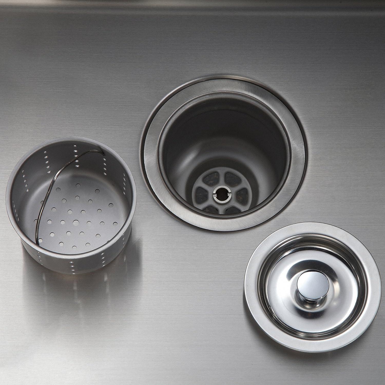 Kraus Kbu15 20 Inch Undermount Single Bowl 16 Gauge Stainless Steel Kitchen Sink Amazon Com