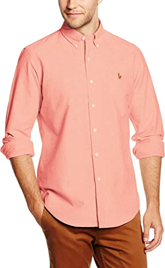 Polo Ralph Lauren BD PPC SP-Long Sleeve Camisa, Naranja (Orange), XXL para Hombre: Amazon.es: Ropa y accesorios