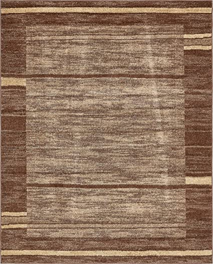 Amazon Com Modern Area Rug Brown 8 X 10 Feet Giza Collection