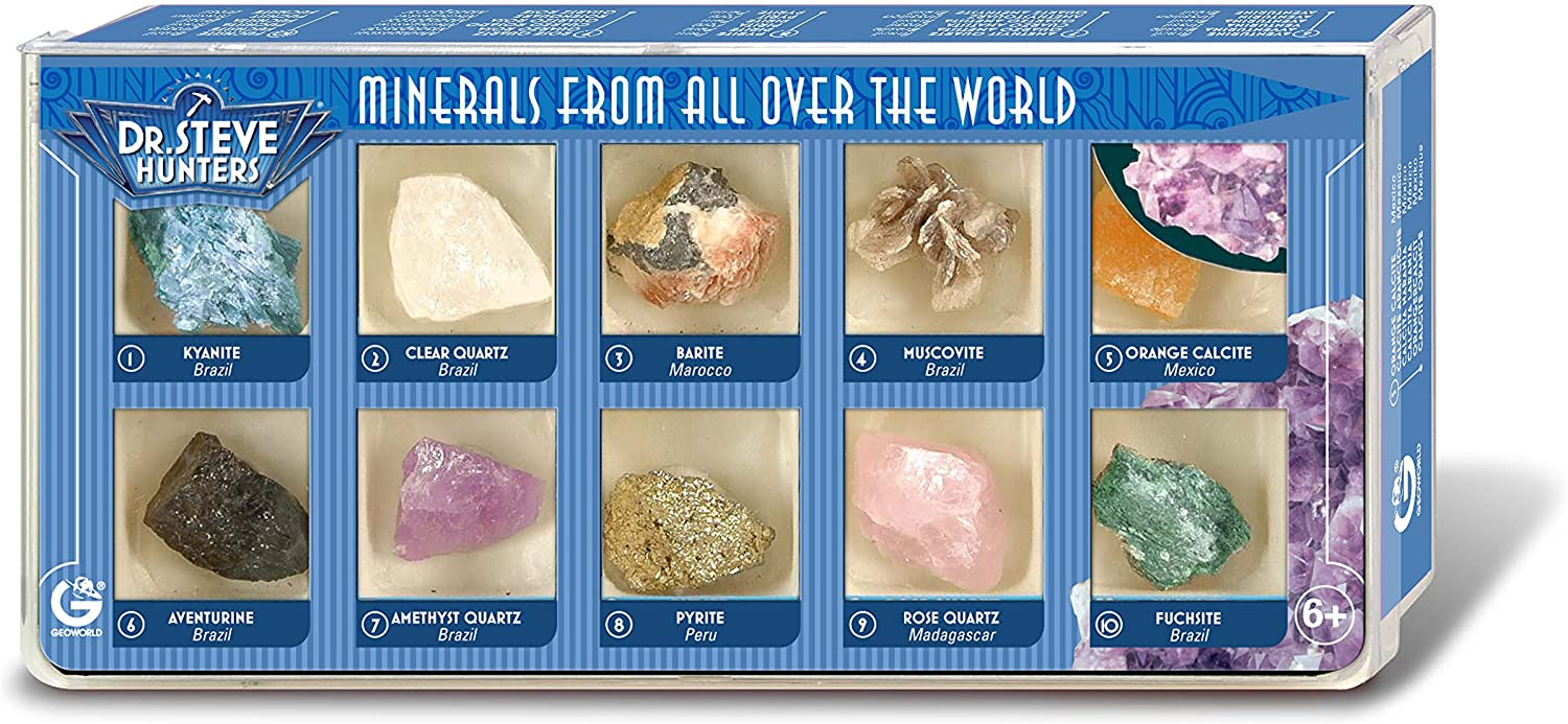 Dr. Steve Hunters ed501K–Minerals from All Over The World, 10minerales