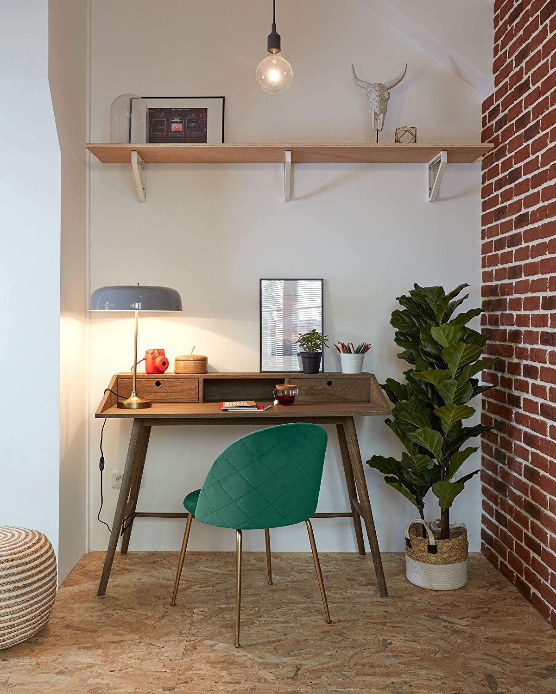 Sedia Ivonne con rivestimento in velluto Kave Home