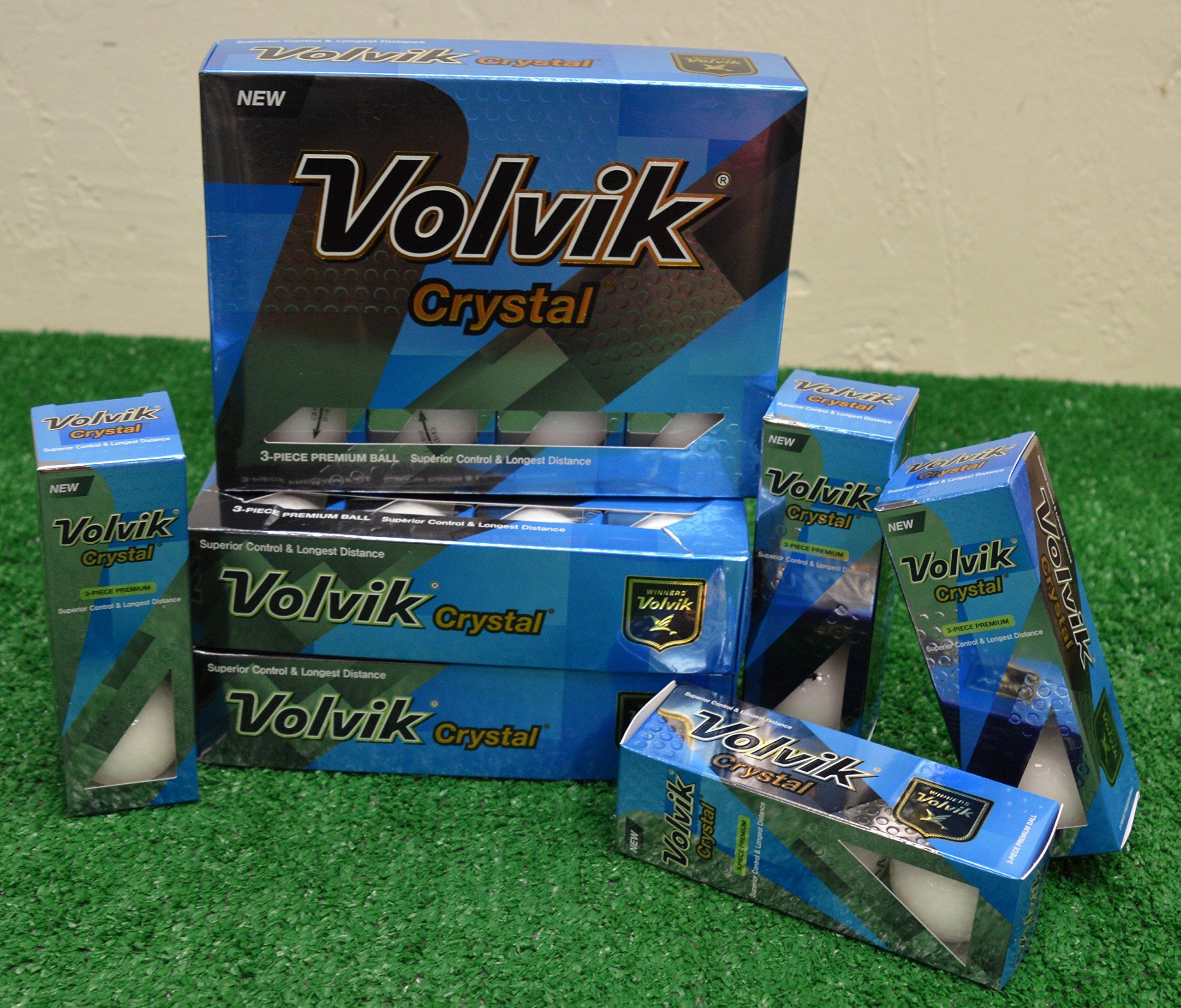4 Dozen Volvik Crystal White Golf Balls - New in Box