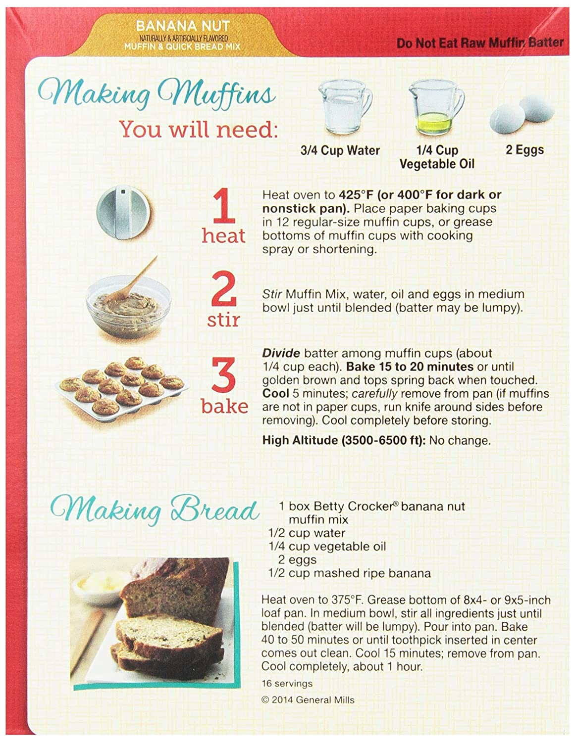 How To Boil Perfect Eggs Amazon : Betty Crocker Muffin & Quick Bread Mix  Banana Nut
