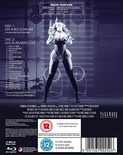 Beyoncé - Life is But a Dream Blu-ray Region Free: Amazon co