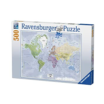 Ravensburger 14760 world map puzzle 500 pieces amazon toys ravensburger 14760 world map puzzle 500 pieces gumiabroncs Images