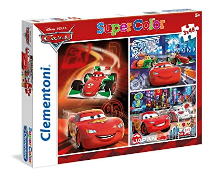 Clementoni Cars 3 in 1 Puzzle (144 Piece)