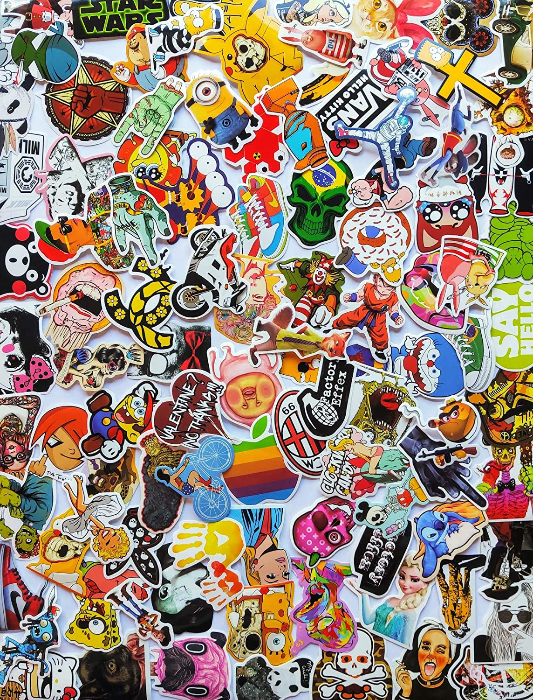 100pcs Style F Supreme Sticker Vinyl Music Film Skateboard Guitar Waterproof Travel Case Sticker Phones Door Laptop Stickers Luggage Water Bottle Stickers Bike Stickers for Teens Hypebeast