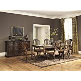 Roundhill Furniture D615-7PC Sunhill Formall Rectangular Dining Room Set, Table with 6 Chairs