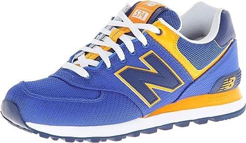 new balance 574 yellow blue