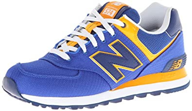 blue and yellow new balance 574