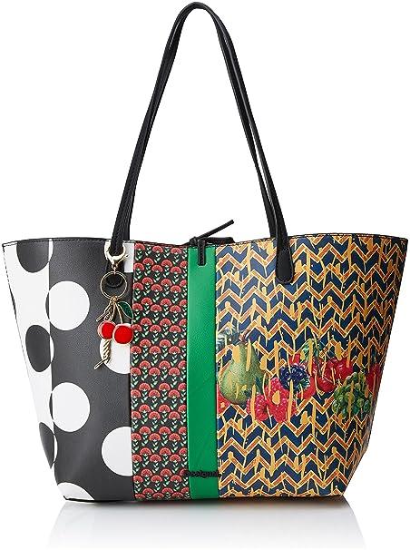 aeeb657b99 Desigual Bols_lola Pacth Capri Donna Borse a spalla Rosso (Fiesta) 28x13x30  cm (B x H x T): MainApps: Amazon.it: Scarpe e borse