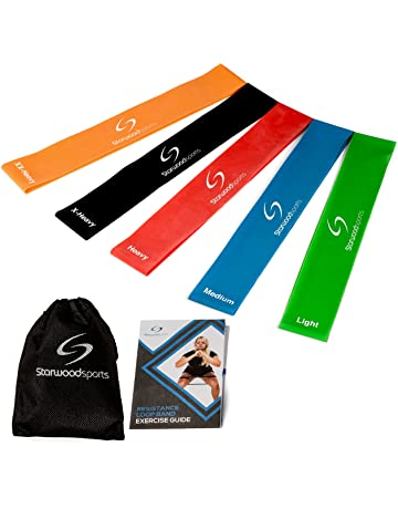 Starwood Sports ® ® Set de Bandas de Resistencia - Unisex - para Yoga, Pilates
