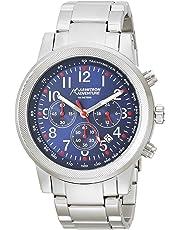 Armitron AD1020NVSV Reloj Análogo para Hombre, color Azul/Plata