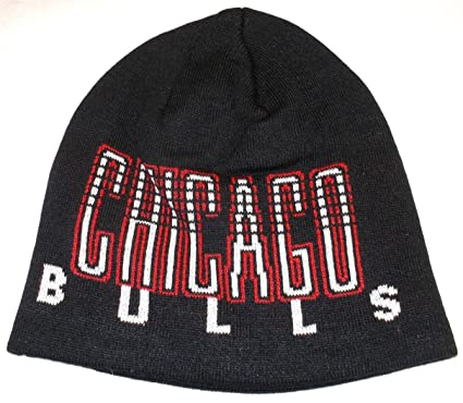 a8f57142710 Image Unavailable. Image not available for. Color  Chicago Bulls Cuffless Knit  Beanie NBA Adidas Official Black Hat