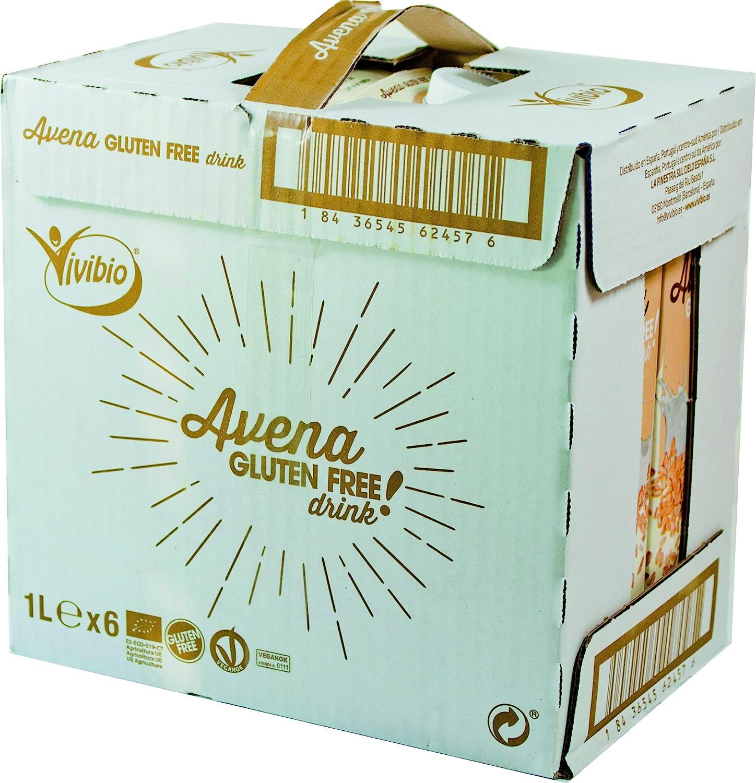 Bebida de avena sin gluten - caja de 6 uds de 1000 ml. (Total 6000 ml.): Amazon.es: Alimentación y bebidas