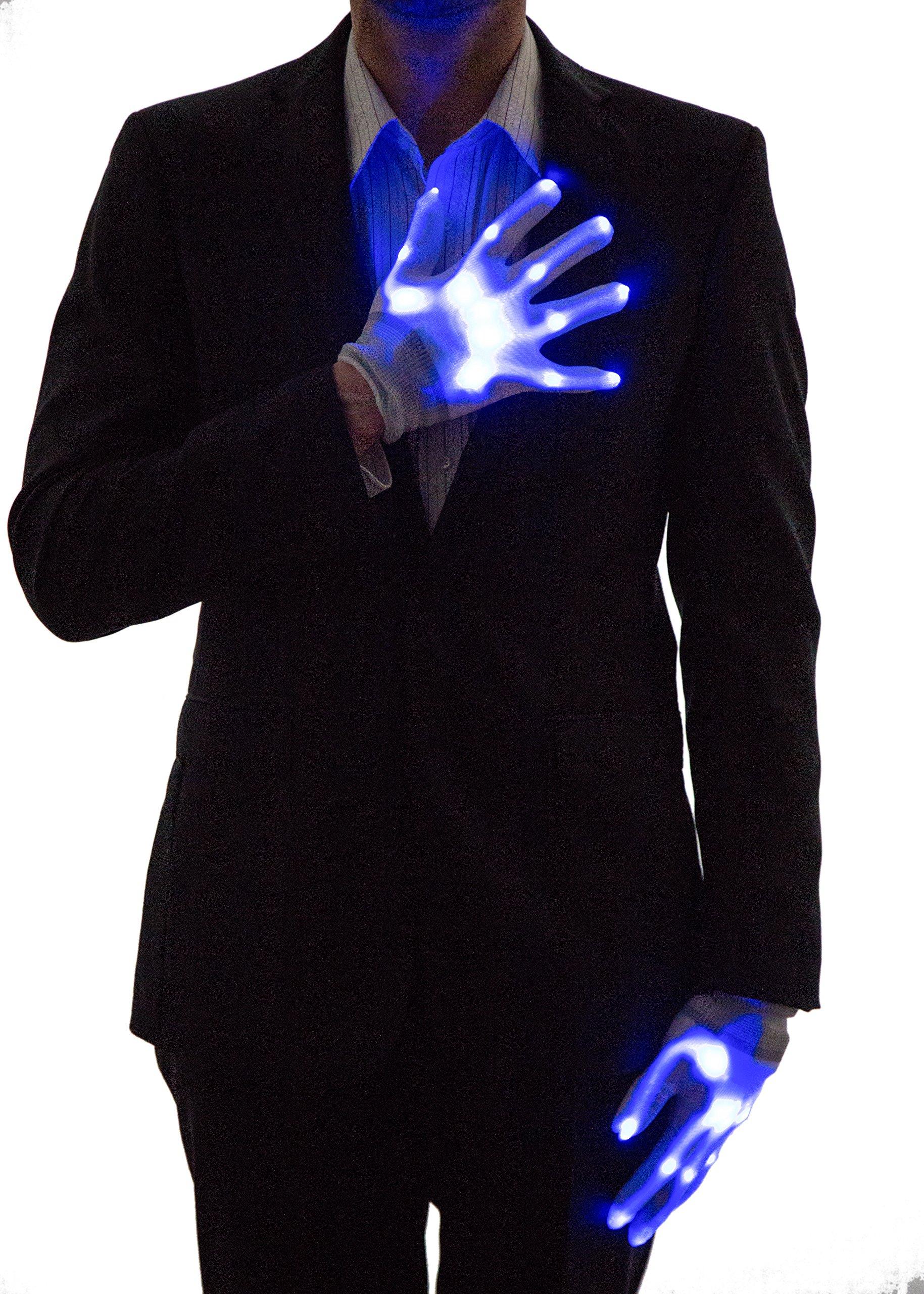 Neon Nightlife Light Up Gloves for Kids, LED, Blue by Neon Nightlife (Image #3)