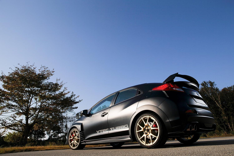 Clásico y músculo anuncios de coche y COCHE arte Honda Civic tipo R desarrollo (2015) coche Póster en 10 mil Archival papel satinado negro parte trasera ...