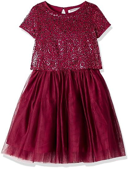 cba707de9bb9a RED WAGON Robe à Sequins Fille  Amazon.fr  Vêtements et accessoires