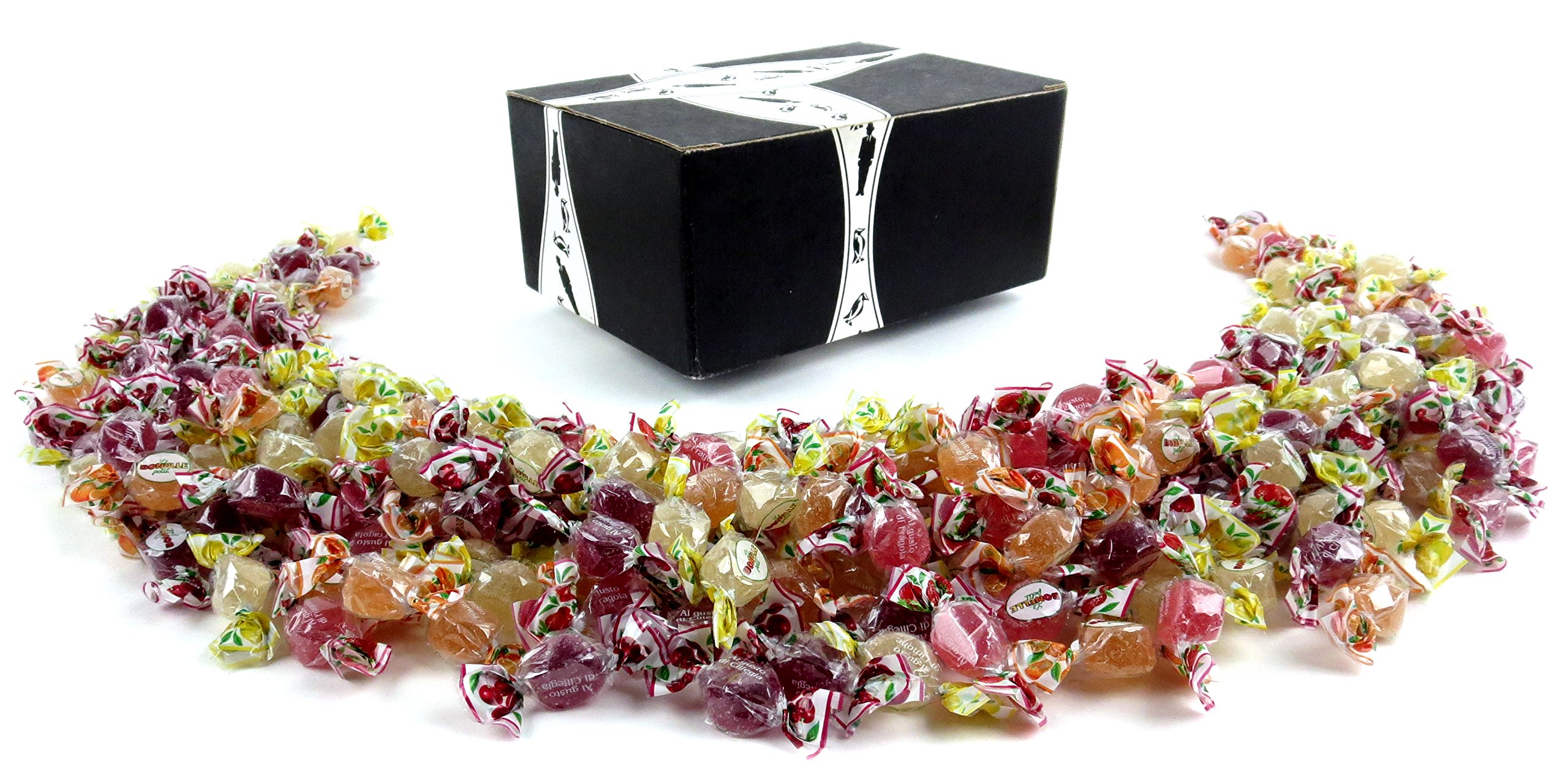 Perugina Bonelle Petit Premium Jelly Candies, 2 lb Bag in a BlackTie Box