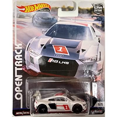 Hot Wheels Audi R8 LMS #5/5 Premium 2020 Real Riders Pop Culture Open Track Series 1:64 Scale Collectible Die Cast Model Car: Toys & Games
