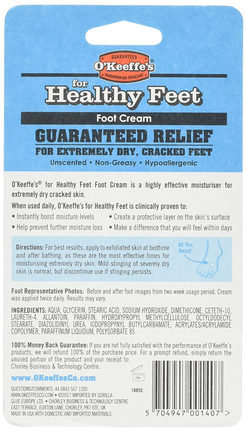 Amazoncom OKeeffes For Healthy Feet Foot Cream Oz Jar - 24 times people followed instructions way literally 6 cracked