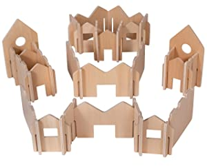 THE FRECKLED FROG - FF410 The Freckled Frog Happy Architect - Natural - Set of 28 - Ages 2+ - Wooden Building Blocks for Preschoolers and Elementary Aged Kids