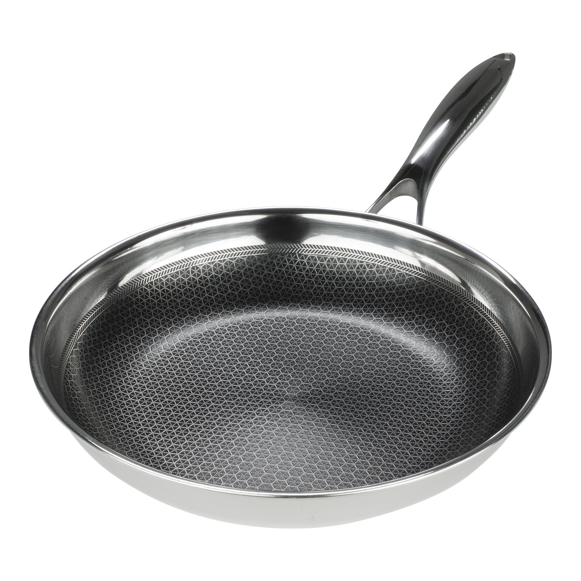 Frieling USA Black Cube Hybrid Stainless/Nonstick Cookware Fry Pan, 9 1/2-Inch
