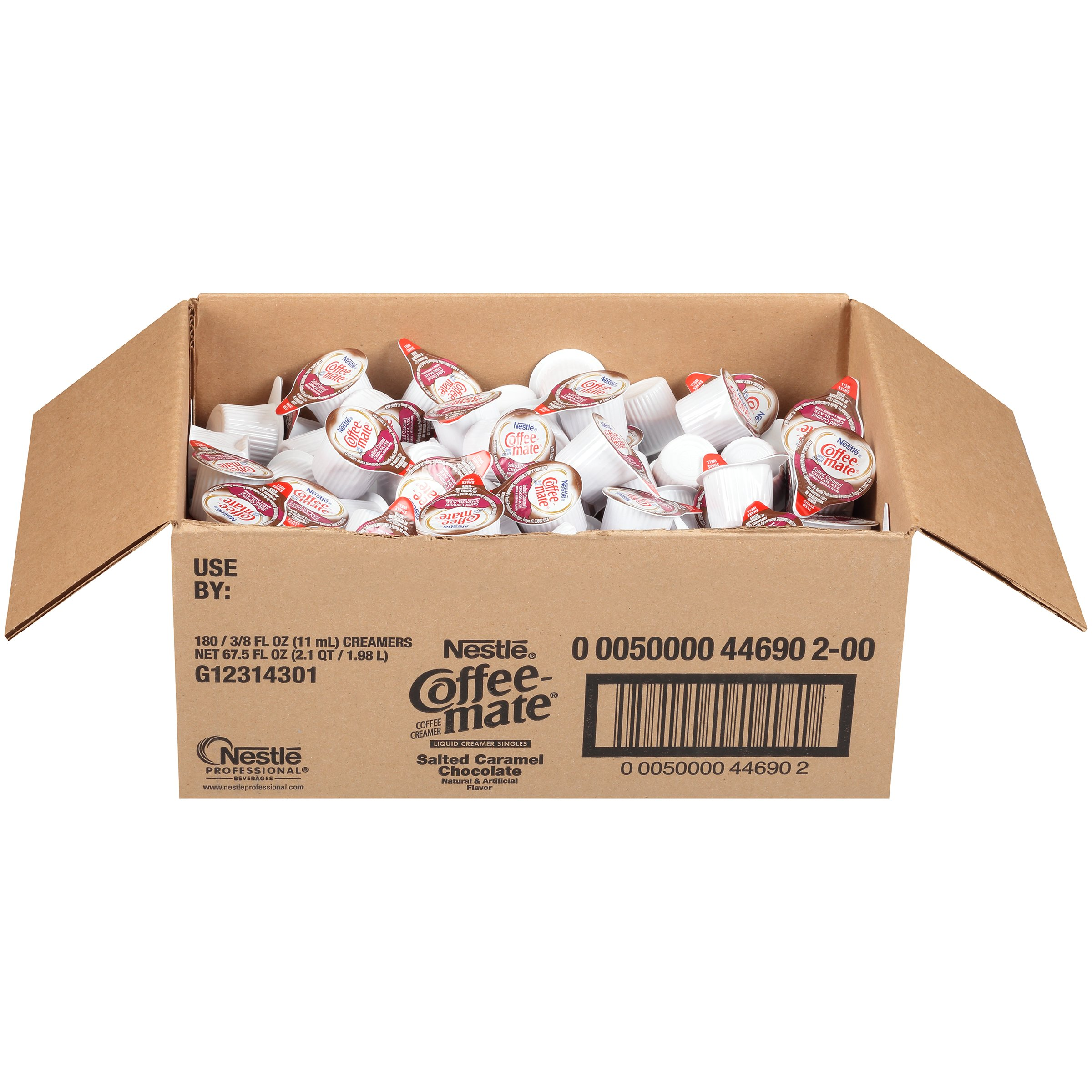 Nestle Coffee-mate Coffee Creamer, Salted Caramel Chocolate, liquid creamer singles, 180 Count (Pack of 1) by Nestle Coffee Mate