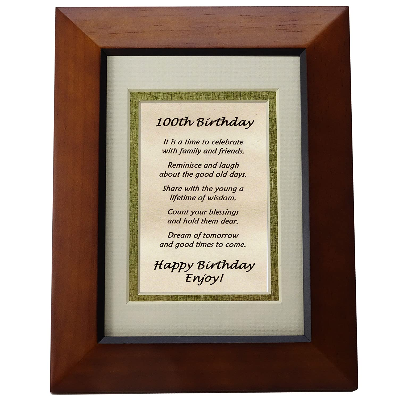 Amazon Happy 100th Birthday Toast Poem 100th Birthday Gift