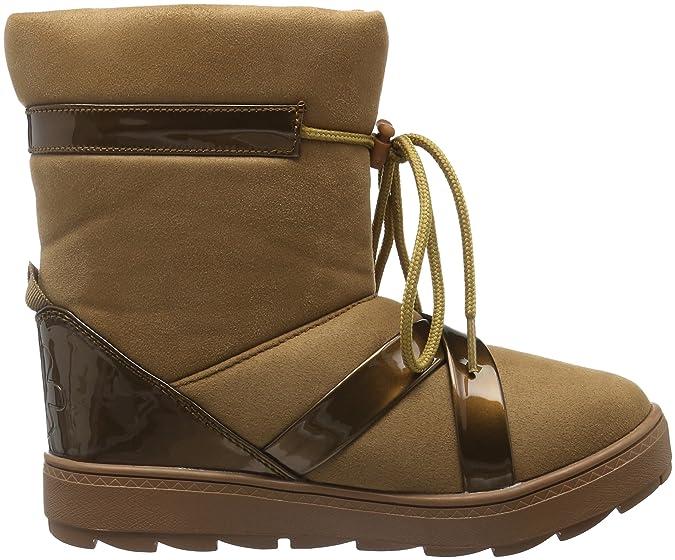 flip flop Cross Boot, Bottes mi-Hauteur avec Doublure Chaude Femme - Marron - Braun (Brown Sugar 833), 36