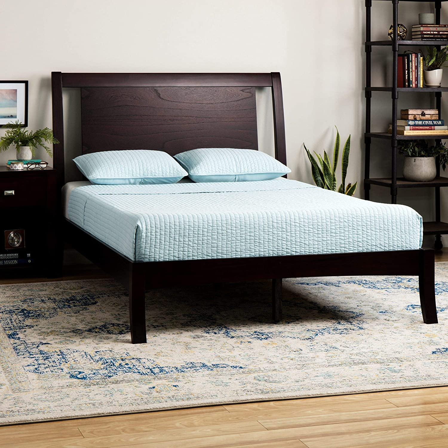 Amazoncom Domusindo Floating Panel Queen Size Sleigh Bed Kitchen
