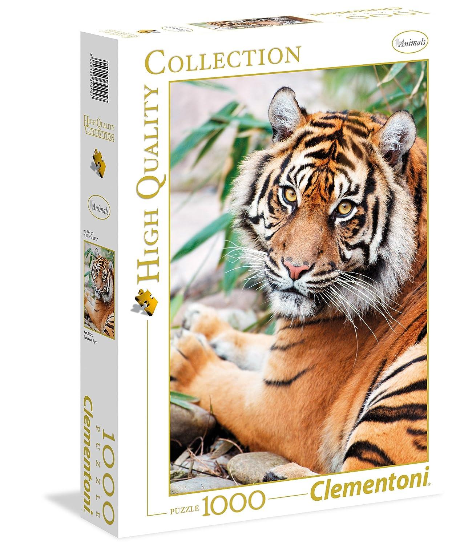 Clementoni dise/ño Sumatran Tiger 392957 Puzzle de 1000 Piezas,