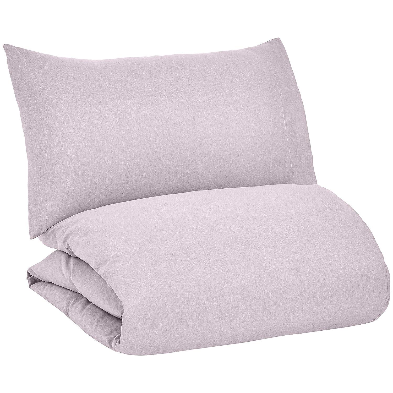 Basics Chambray Duvet Cover Set Soft Grey Full//Queen