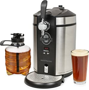 Nostalgia CBD5SS Homecraft On Tap Beer Growler Cooling System, 5L, Stainless Steel