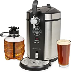 Nostalgia CBD5SS Homecraft On Tap Beer Growler Cooling System, 5 Liter, Stainless Steel