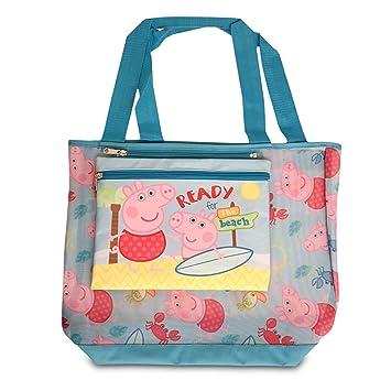 Amazon.com: Peppa Pig niña de malla de bolsa de playa con ...