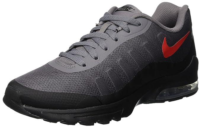 promo code 3f9dd 46736 NIKE Men s Air Max Invigor Print Running Shoe, Gunsmoke University Red-Black ,