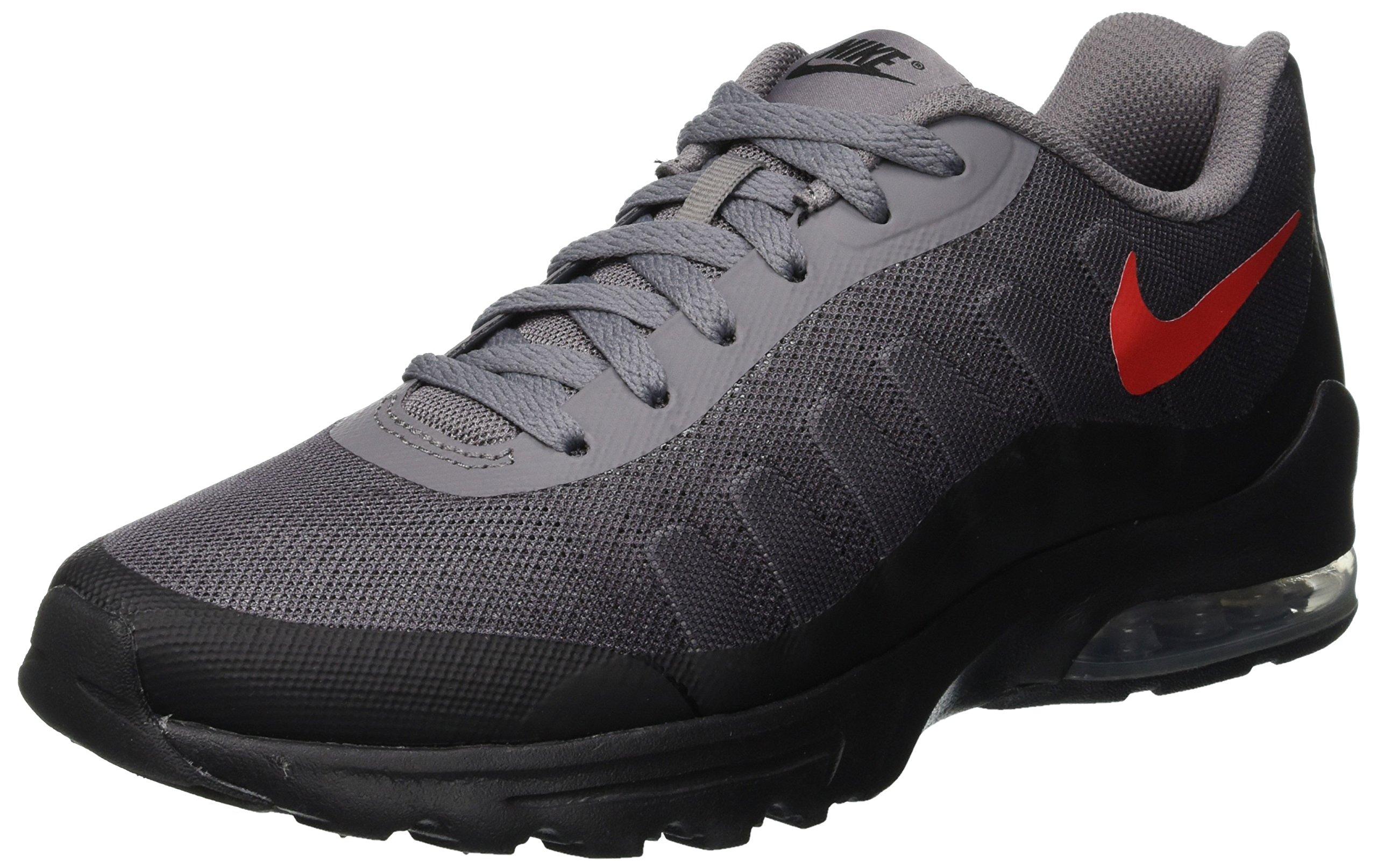 NIKE Men's Air Max Invigor Print Running Shoe, Gunsmoke/University Red-Black, 7.5 by NIKE