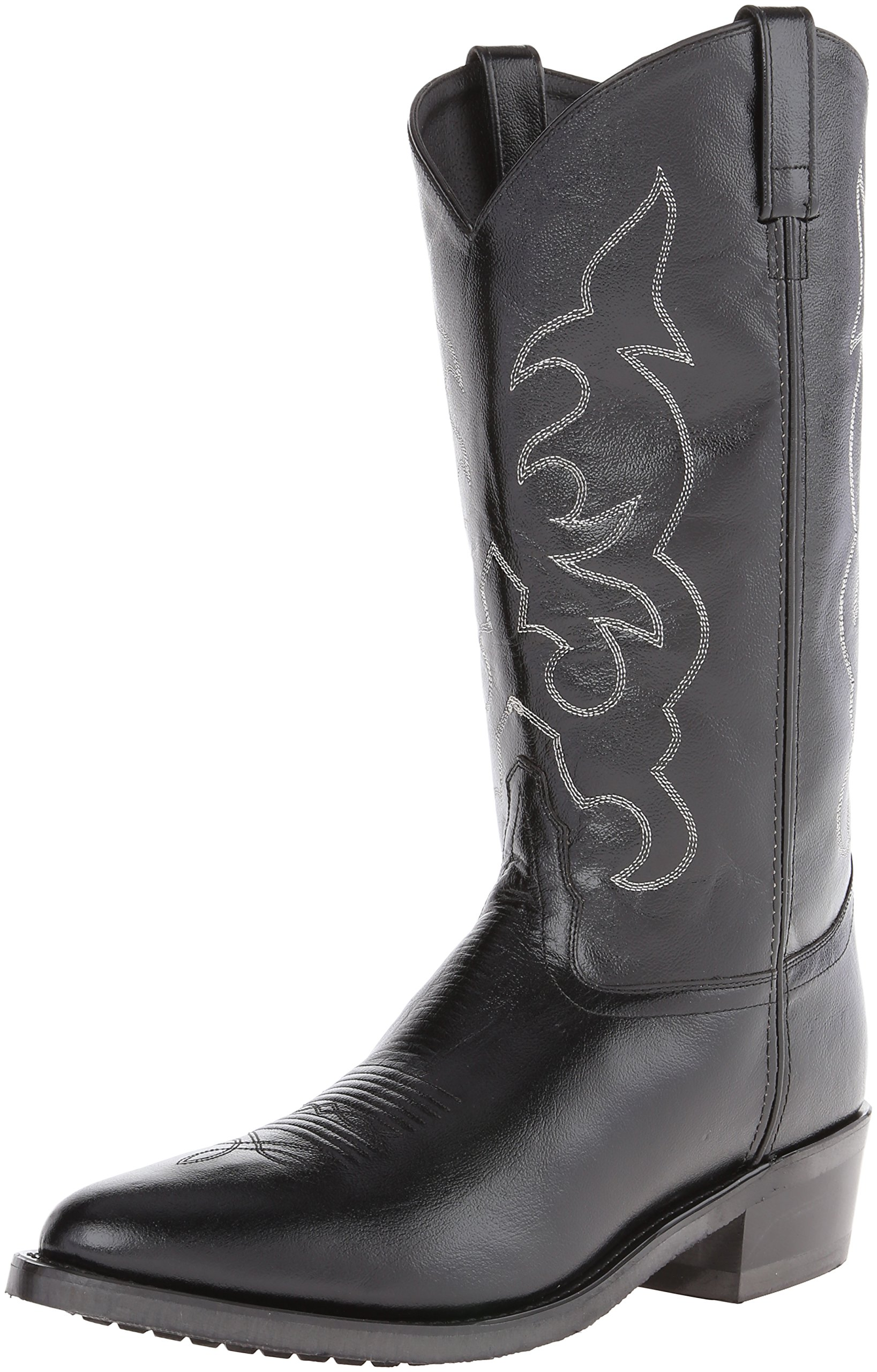 Old West Men's Leather Cowboy Work Boots - Black10.5 D(M) US
