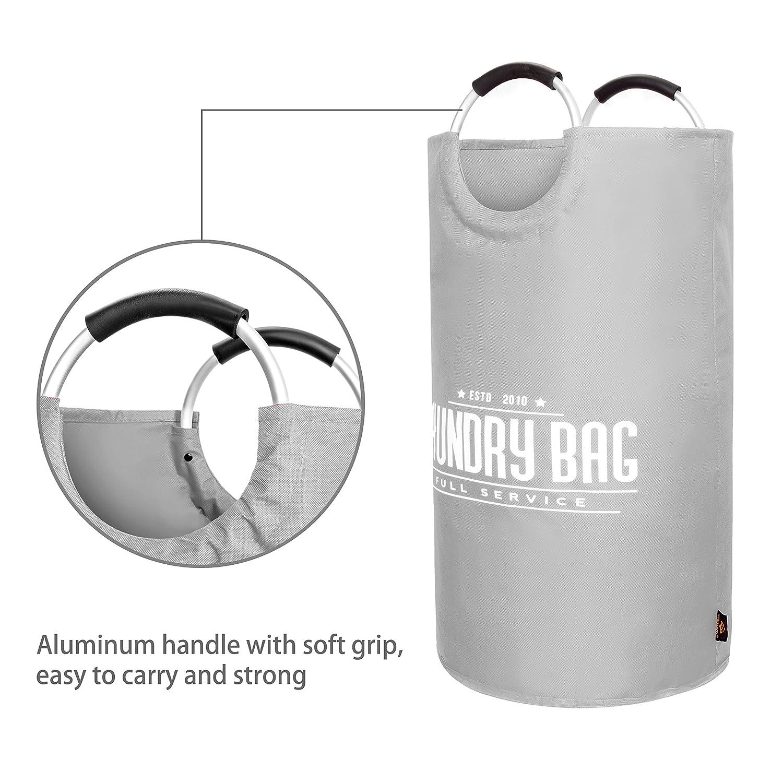 Plegable AUERVO Cesta de la Colada Grande Tela Oxford Plegable para la Colada Bolsa de Almacenamiento port/átil Impermeable con Asas de Aluminio para Ropa Sucia