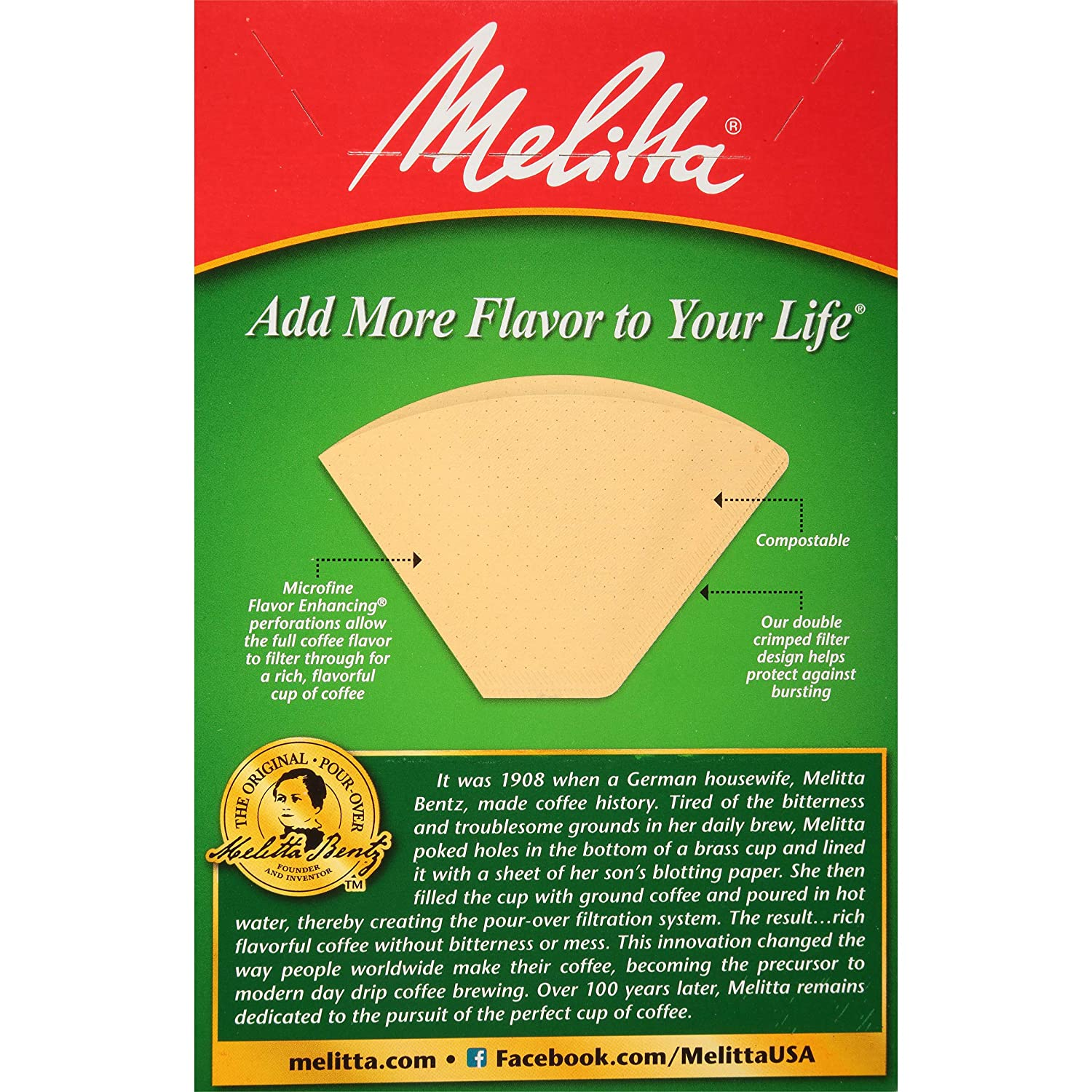 Melitta No 100 Count 4 Cone Coffee Filters Natural Brown