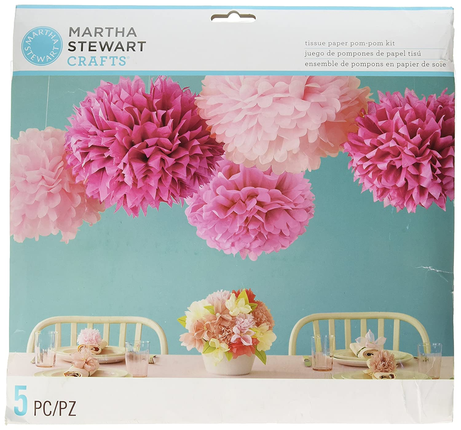 Amazon Martha Stewart Crafts Pom Poms Pink 2 Sizes Arts