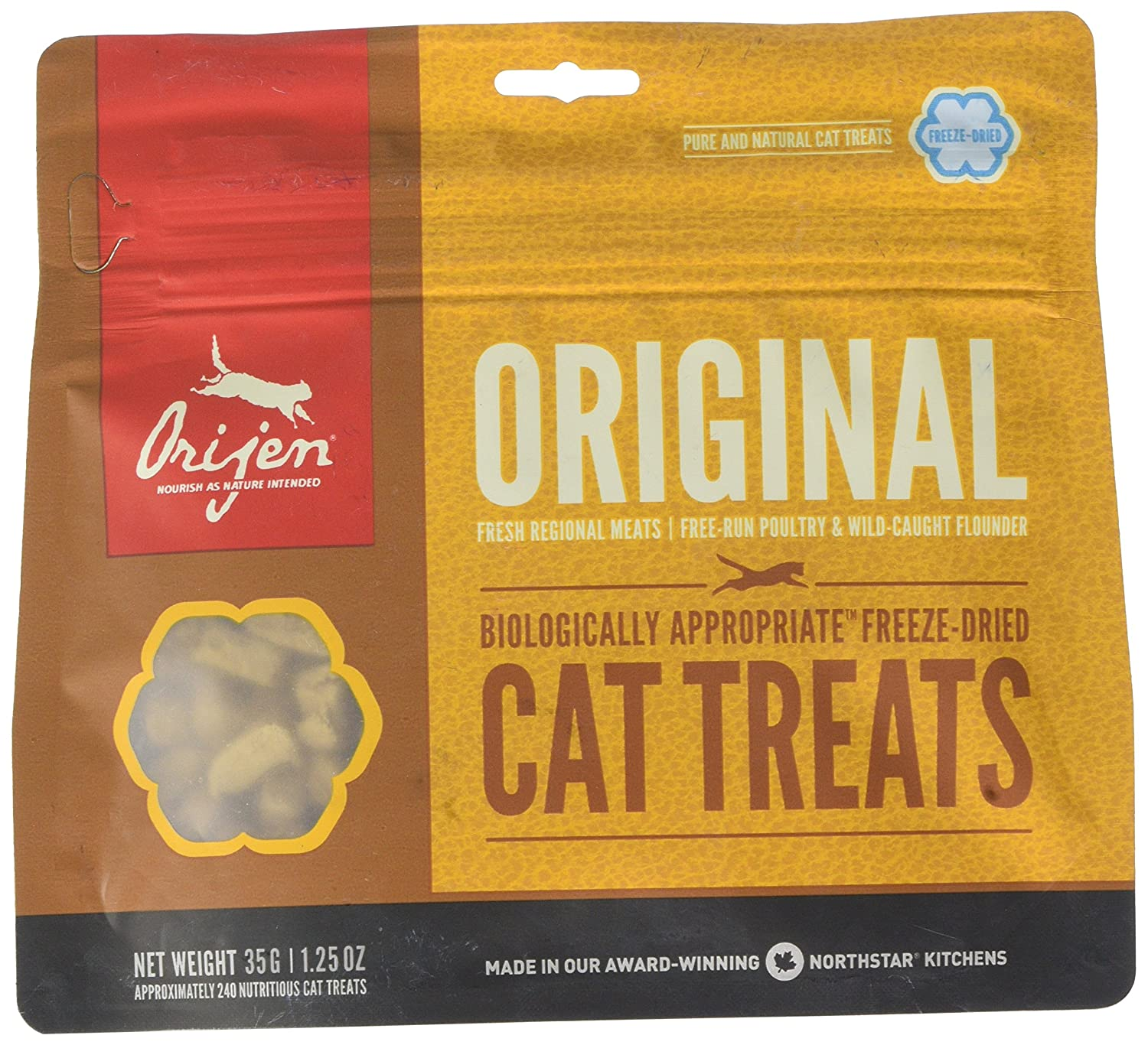 Origen - Orijen Original Gato Treats - 548 - 35 Grs: Amazon.es: Productos para mascotas