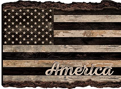 cfd1af6148aa Image Unavailable. Image not available for. Color  P. GRAHAM DUNN American  Flag Rustic Distressed ...