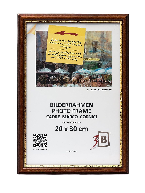 3-B Bilderrahmen BARI RUSTIKAL – dunkel braun - 20x30 cm ...