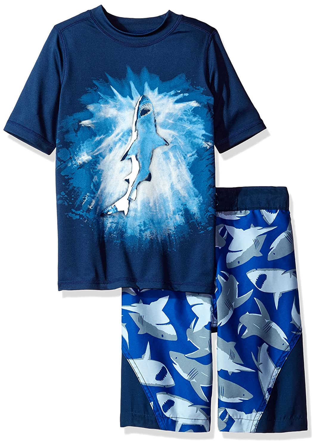 The Children's Place Boys' Rashguard and Swim Trunks Set Captain Navy XS (4) 2082779001
