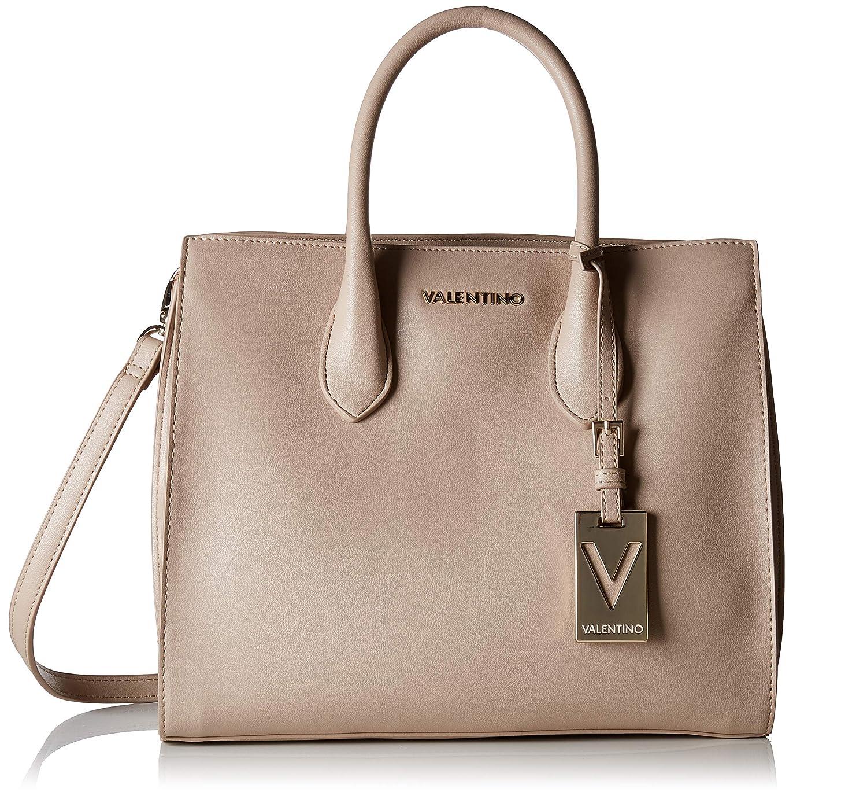 Mario Valentino VBS2UM01 - Bolso de mano de Poliuretano Mujer, color Beige, talla 14.7x25x31 cm (B x H x T): Amazon.es: Zapatos y complementos