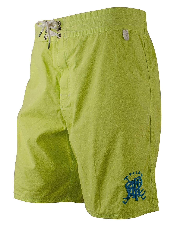 0721cea3fb3 Polo Ralph Lauren Mens Sanibel Cross Mallets Swim Shorts - XXL - Yellow    Amazon.com